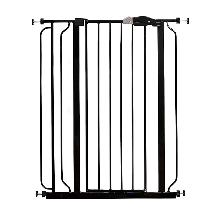 Regalo 174 Easy Step Extra Tall Walk Through Gate In Black