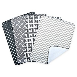 Trend Lab® 4-Pack Ombre Burp Cloth Set in Grey