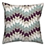 Part of the Purple Tribal Geo Square Throw Pillow in White/Blue