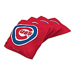 MLB Chicago Cubs 16 oz. Regulation Cornhole Bean Bags in Red (Set of 4)