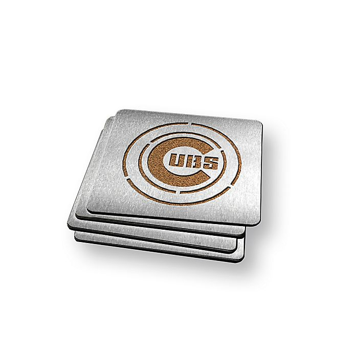 Alternate image 1 for MLB Chicago Cubs Coasters (Set of 4)
