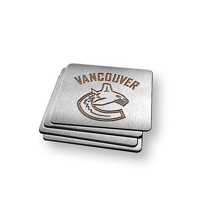 Alternate image 1 for NHL Vancouver Canucks Boasters (Set of 4)