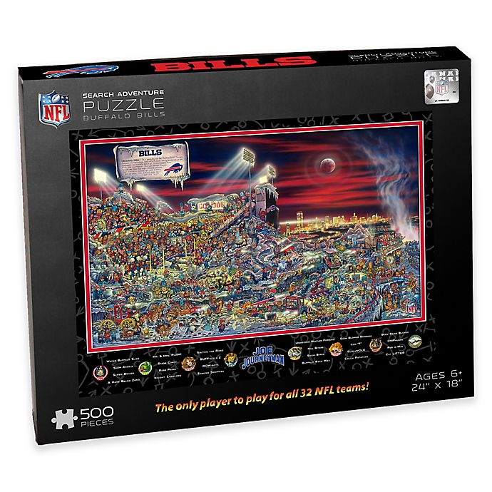 Alternate image 1 for NFL Buffalo Bills Joe Journeyman 500-Piece Puzzle