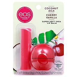eos Super Soft Shea Lip Balm Stick and Sphere in Coconut Milk & Cherry Vanilla
