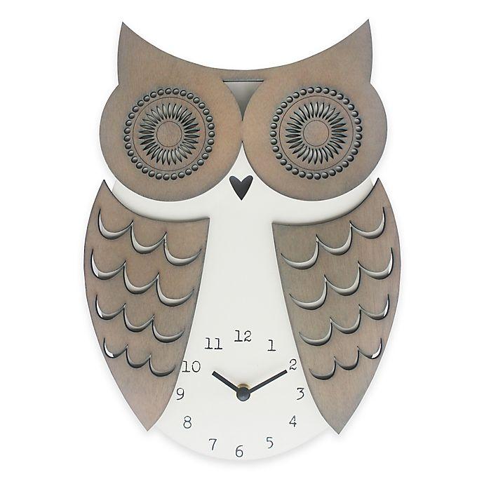 Alternate image 1 for Sterling & Noble Clock Owl