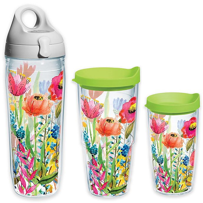 Alternate image 1 for Tervis® Watercolor Wildflowers Wrap Tumbler with Lid