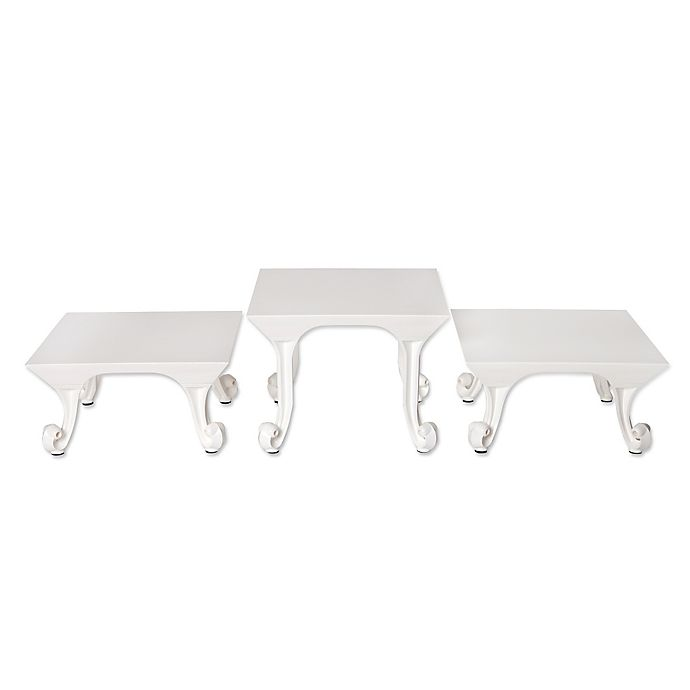 Alternate image 1 for Sterling Risers® 3-Pack Classic Tabletop Designs Tops in White