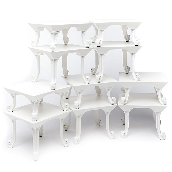 Alternate image 1 for Sterling Risers® 10-Pack Classic Tabletop Designs Tops in White
