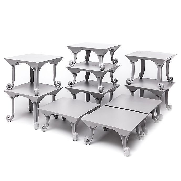 Alternate image 1 for Sterling Risers® 10-Pack Classic Tabletop Designs Tops in Grey