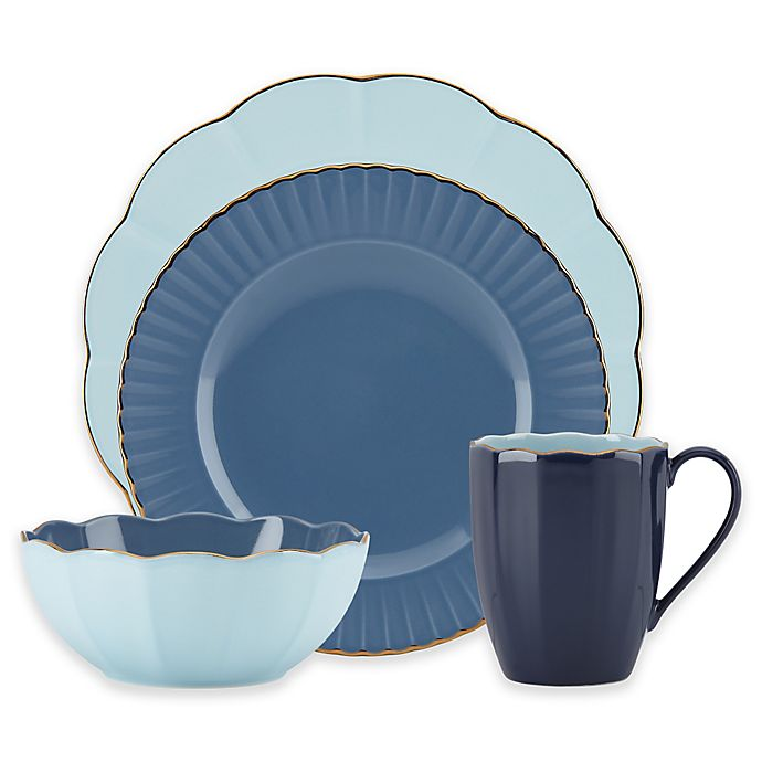 b9bb6fcd64 Marchesa by Lenox® Shades of Blue Dinnerware Collection | Bed Bath ...