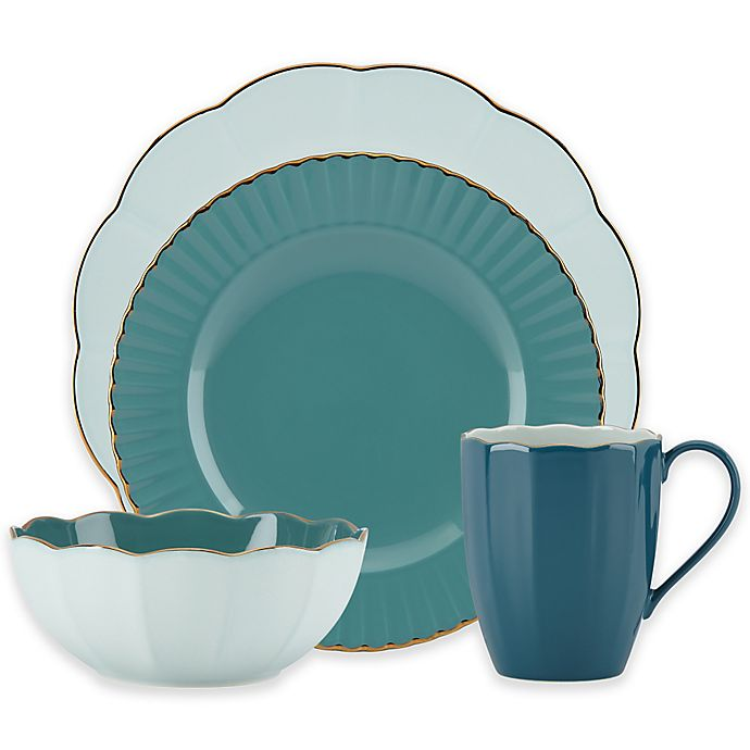 bf7e8ad0d6 Marchesa by Lenox® Shades of Teal Dinnerware Collection | Bed Bath ...