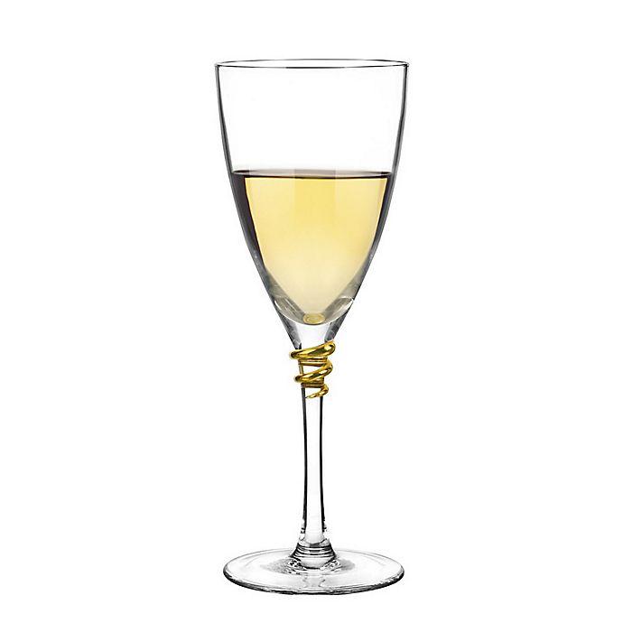 Alternate image 1 for Qualia Helix Gold Wine Glasses (Set of 4)