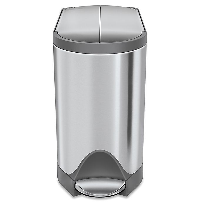Alternate image 1 for simplehuman® 10-Liter Butterfly Step Trash Can