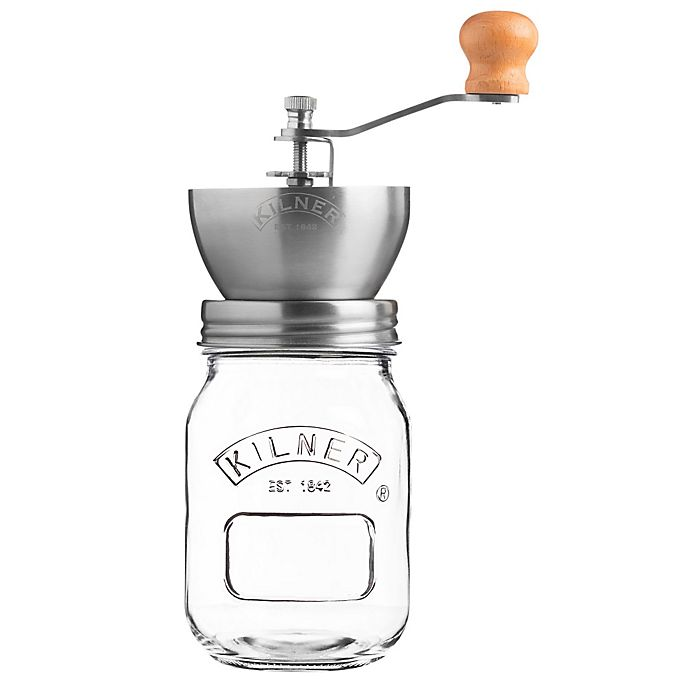 Alternate image 1 for Kilner® Glass Coffee Mill Grinder