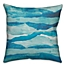 Part of the Abstract Waves Throw Pillow in Blue