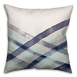 Bigger Wave Wash Throw Pillow in Blue