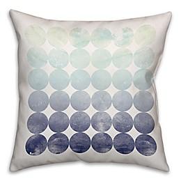 Circles Throw Pillow in Mint/Navy