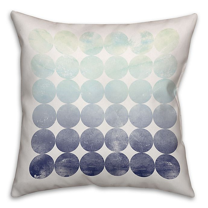 Circles Throw Pillow In Mint Navy Bed Bath Beyond
