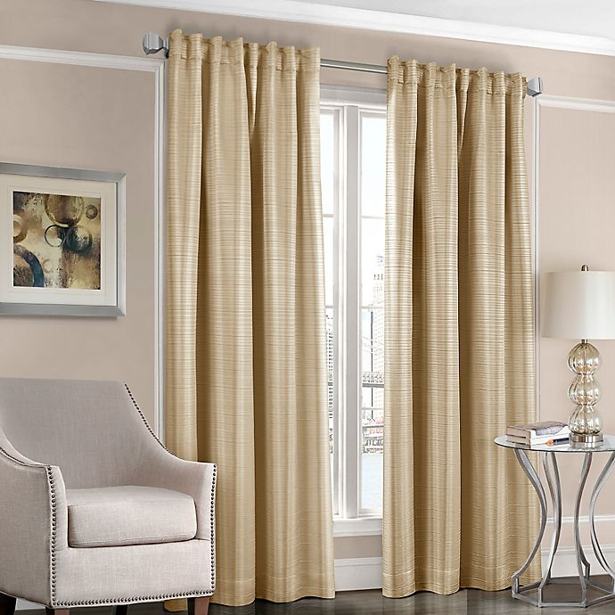 Alternate image 1 for Designers' Select™ Satin Stripe Rod Pocket/Back Tab Window Curtain Panel