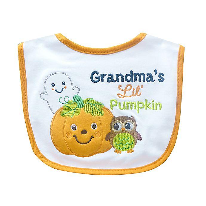 grandmas lil pumpkin halloween bib