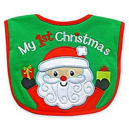 """""""My First Christmas"""" Santa Feeder Bib"""