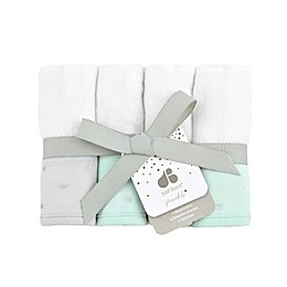 Just Born® Sparkle 4-Pack Washcloths in Mint