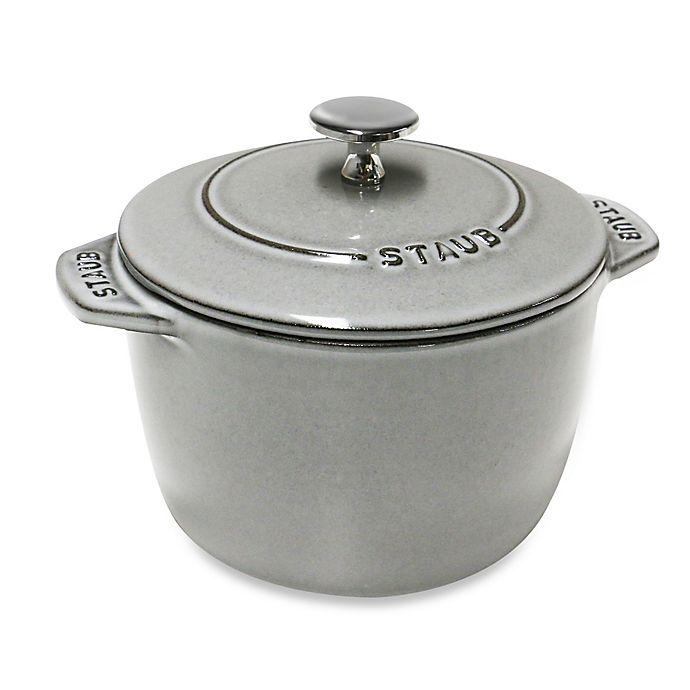 Alternate image 1 for Staub 0.75 qt. Petite Dutch Oven in Graphite Grey