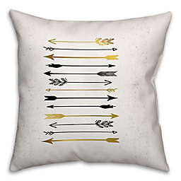 Arrows Galore Throw Pillow in Black/Gold