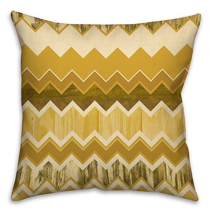 Alternate image 1 for Chevron Stripe Throw Pillow in Gold