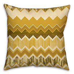 Chevron Stripe Throw Pillow in Gold