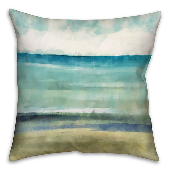 Alternate image 1 for Cool Ocean Abstract Throw Pillow in Blue/Beige