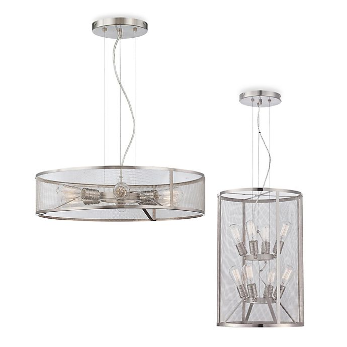 Minka Lavery Downtown Edison Pendant In Brushed Nickel With