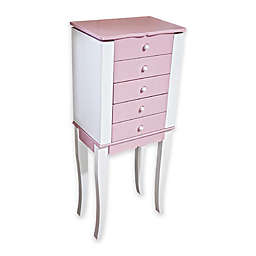 Mele & Co. Louisa Jewelry Armoire in Pink