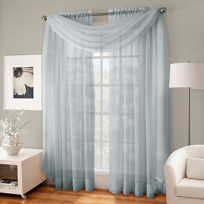 Alternate image 1 for Crushed Voile Platinum Collection Sheer Rod Pocket Window Curtain Panels