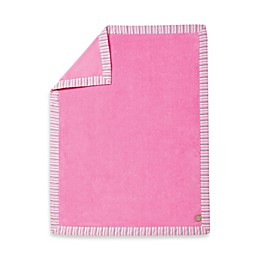 Trend Lab® Lily Stripe Coral Fleece Receiving Blanket in Pink