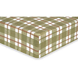 Trend Lab® Deer Lodge Plaid Flannel Fitted Crib Sheet