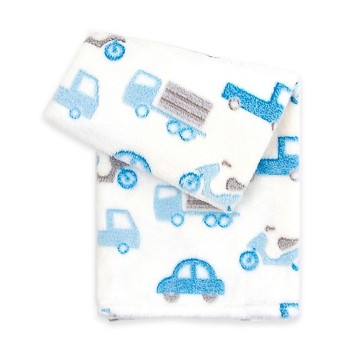 Alternate image 1 for Tadpoles™ by Sleeping Partners Transportation 3D Jacquard Ultra-Soft Blanket in Blue