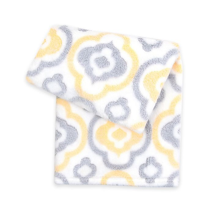 Alternate image 1 for Tadpoles™ by Sleeping Partners Geometric 3D Jacquard Ultra-Soft Blanket in Yellow