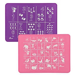 Brinware ABC & 123 Silicone Placemat Set in Pink/Purple (Set of 2)