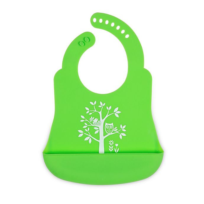 Alternate image 1 for Brinware It's a Hoot Silicone Bib Catcher in Green