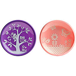 Brinware Garden Party Dishes in Pink (Set of 2)