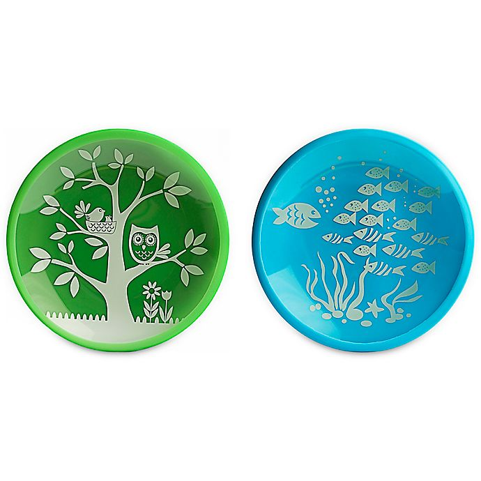 Alternate image 1 for Brinware School of Fish Dishes in Blue/Green (Set of 2)