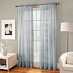 Crushed Voile Sheer 84-Inch Rod Pocket Window Curtain Panel in Pearl Blue
