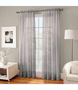 Cortina traslúcida de poliéster Crushed Voile™ con dobladillo 2.13 m color gris niebla