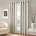 Majestic 84-Inch Room Darkening Lined Grommet Window Curtain Panel in Cream