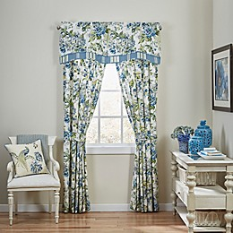 Waverly® Floral Engagement Window Curtain Panel in Porcelain