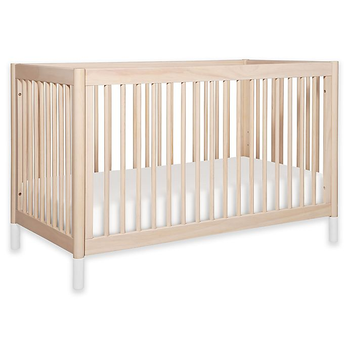 Alternate image 1 for Babyletto Gelato 4-in-1 Convertible Crib in Washed Natural/White