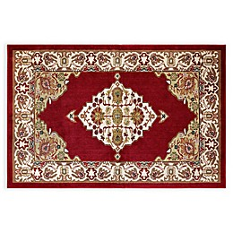 Home Dynamix Westwood Medallion Washable Rug in Red