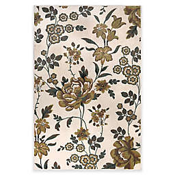 Home Dynamix Westwood Floral 3'1 x 4'6 Accent Rug in Ivory