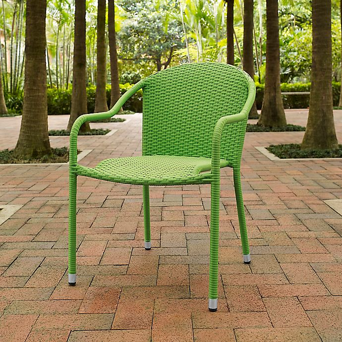 Groovy Crosley Palm Harbor Wicker Stacking Chairs Set Of 4 Bed Home Interior And Landscaping Ferensignezvosmurscom
